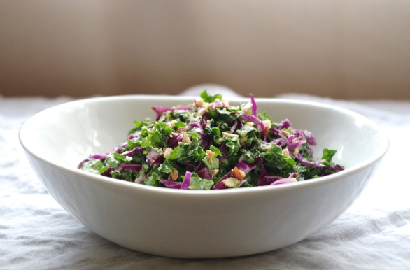 kale + red cabbage slaw